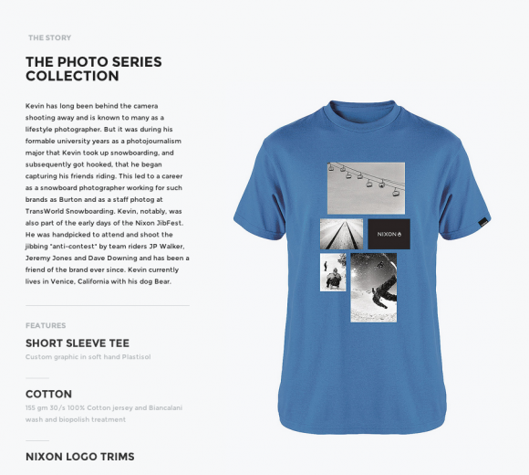 Nixon T shirt blurb
