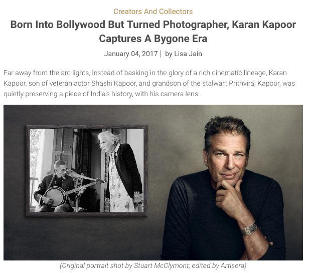 The Artisera Blog features Photographer Karan Kapoor