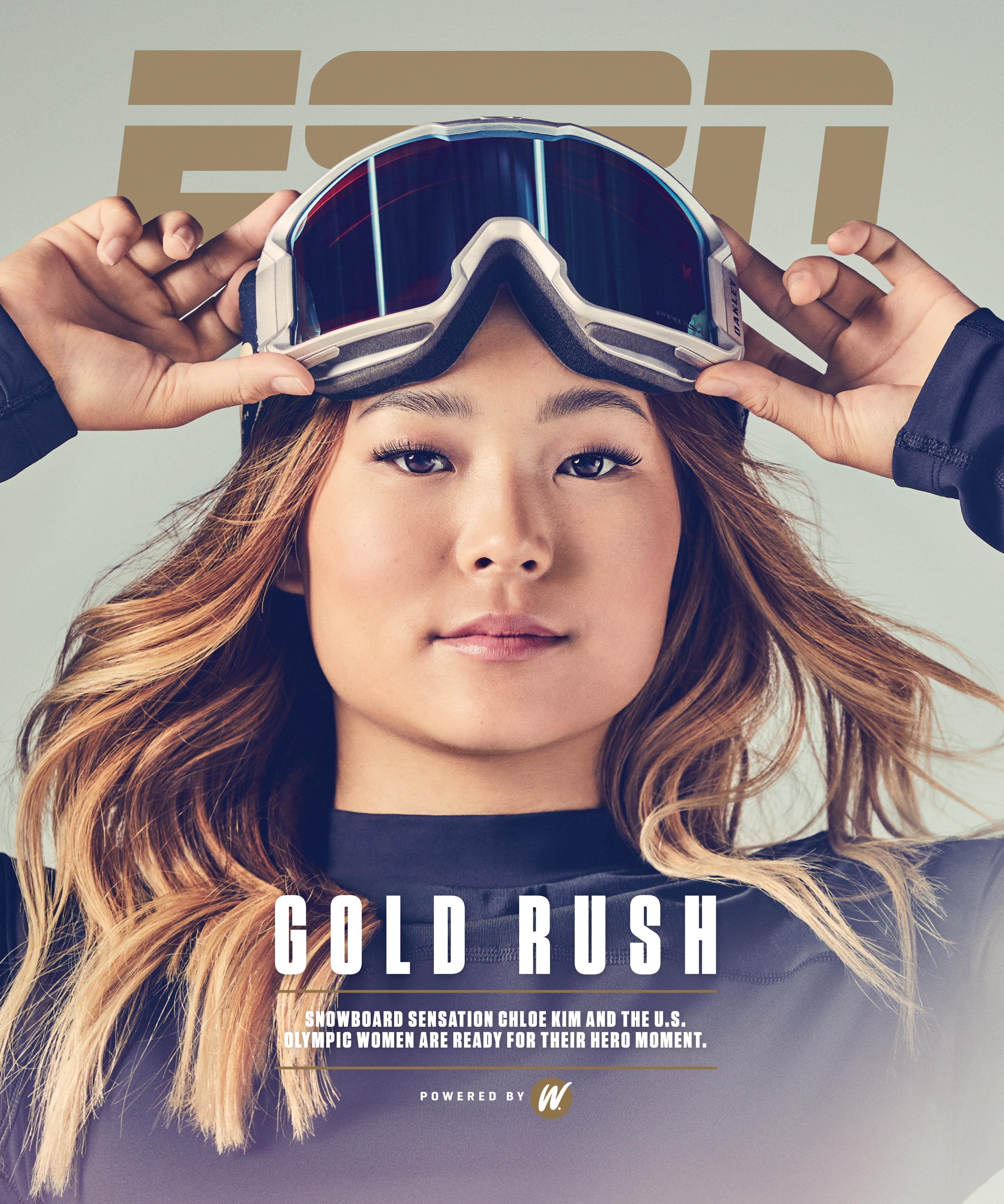 Chloe Kim for ESPN cover story by Ramona Rosales